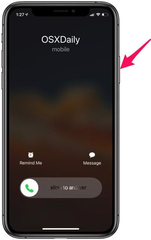 Как отклонить телефонный звонок на iPhone