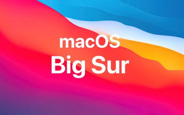 Обновления macOS Big Sur