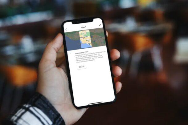 Как загрузить офлайн-карты в Google Maps для iPhone