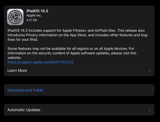 iOS 14.3 и iPadOS 14.3 скачать