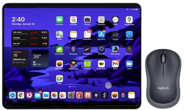 Как использовать мышь или трекпад с iPad