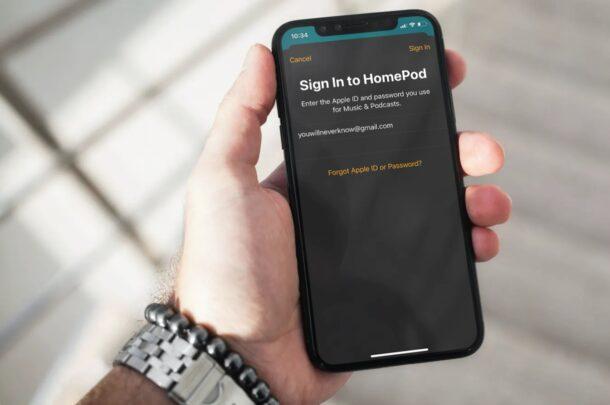 Как изменить Apple ID для учетной записи HomePod
