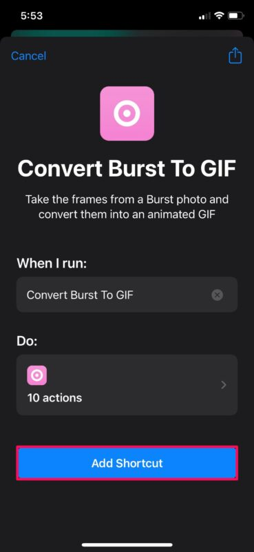 How to Convert Burst Photos to GIF on iPhone