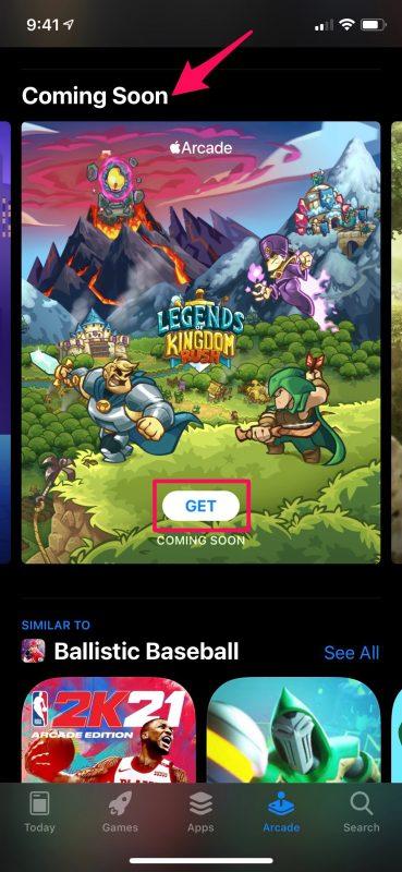 Как получать уведомления о новых аркадных играх Apple