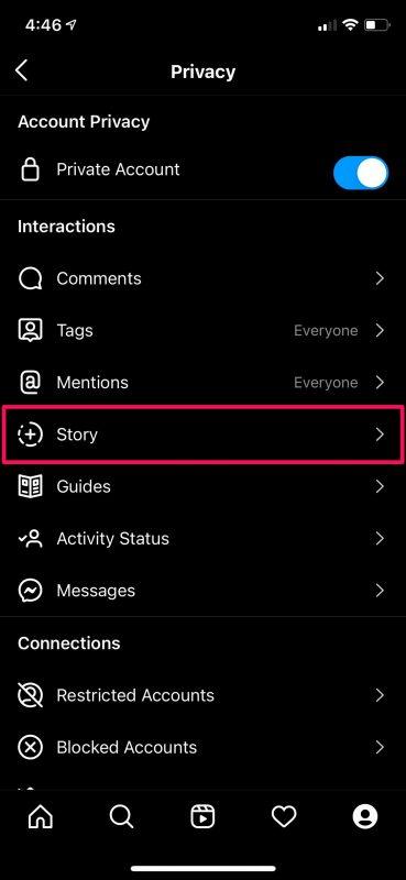 Как отключить ответы на истории в Instagram