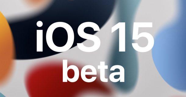 iOS 15 бета