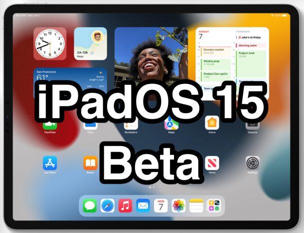 iPadOS 15 бета