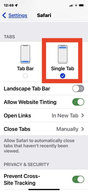 Переместите адресную строку Safari в верхнюю часть экрана снизу в iOS 15