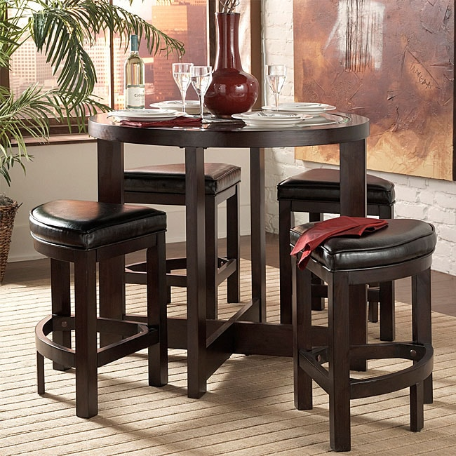 Living Spaces Pub Style Bar Set Includes One Table Four Stools