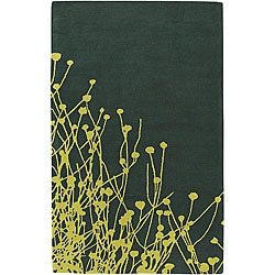 Hand-tufted Pixar Green Wool Rug (5' x 7'6)