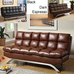 Pascoe Bicast Leather Sofa/ Futon | Cool Stuff