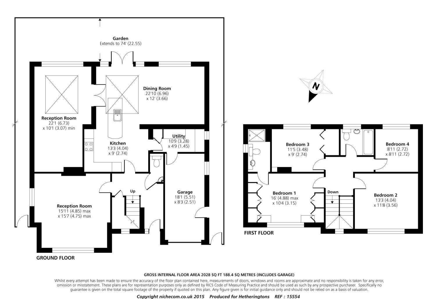 4 Bedroom Detached House For Sale In Bradgate Cuffley
