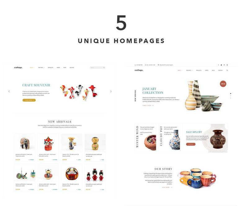 Craftego - Multiconcept Store | PSD Template - 2