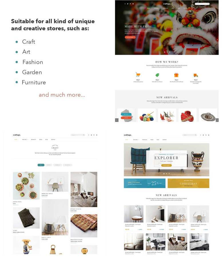Craftego - Multiconcept Store | PSD Template - 3