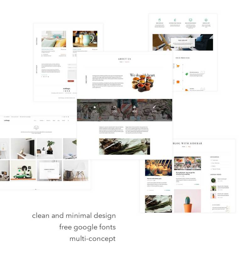 Craftego - Multiconcept Store | PSD Template - 5