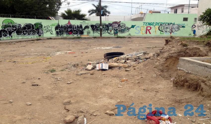 """De la noche a la mañana llegó el ayuntamiento zapopano al lugar y a la de """"Hágase mi voluntad"""" quitó el empedrado que apenas se encontraba en el parque para meter una calle con concreto hidráulico; además de partir el área verde, tuvieron el descaro de dejar la obra malhecha /Fotos: Rafael Hernández Guízar"""