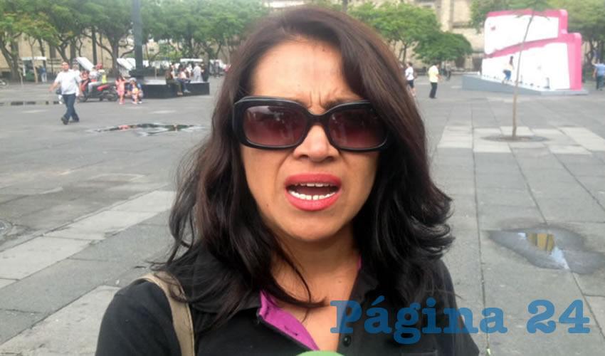 Margarita Juárez García, una de las habitantes de Temacapulín, acusó que no sólo el gobierno estatal los amenaza sino que incluso hay presencia del Ejército mexicano para causar temor y así obligarlos a salir de sus casas/Foto: Francisco Tapia