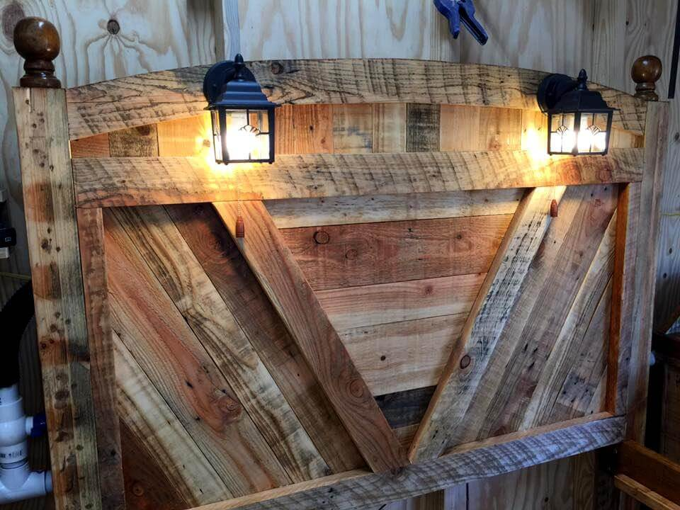 Diy Pallet Bed Frame With Lighted Headboard And Night