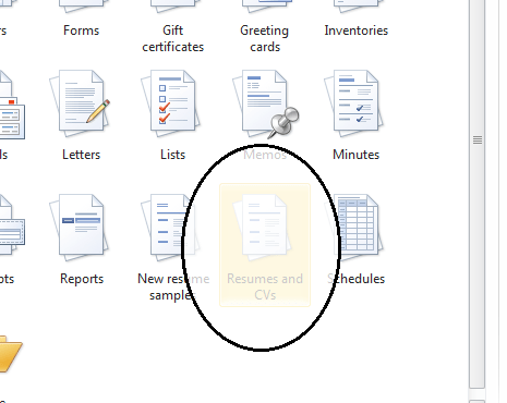 creating resumes in microsoft word 2007 1 tech lit 2 click office