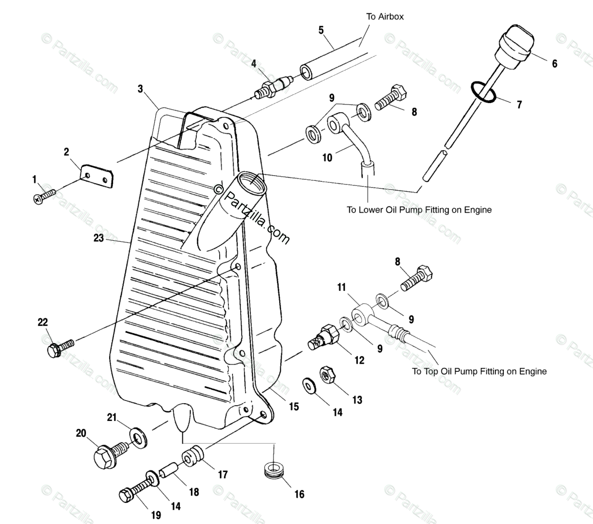Polaris Atv Oem Parts Diagram For Oil Tank