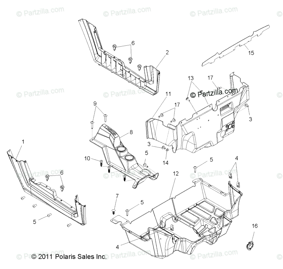 Polaris Side By Side Oem Parts Diagram For Body