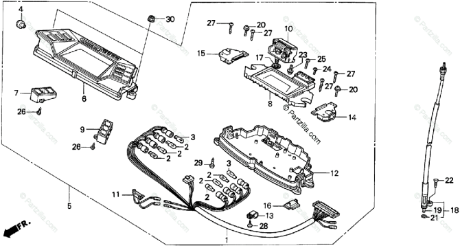 honda scooter 1995 oem parts diagram for speedometer