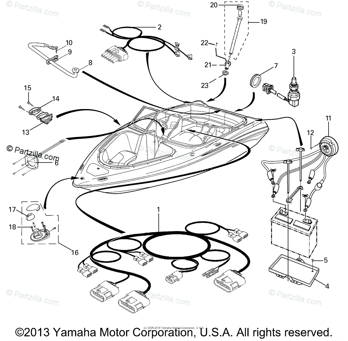 Yamaha Boat Oem Parts Diagram For Electrical