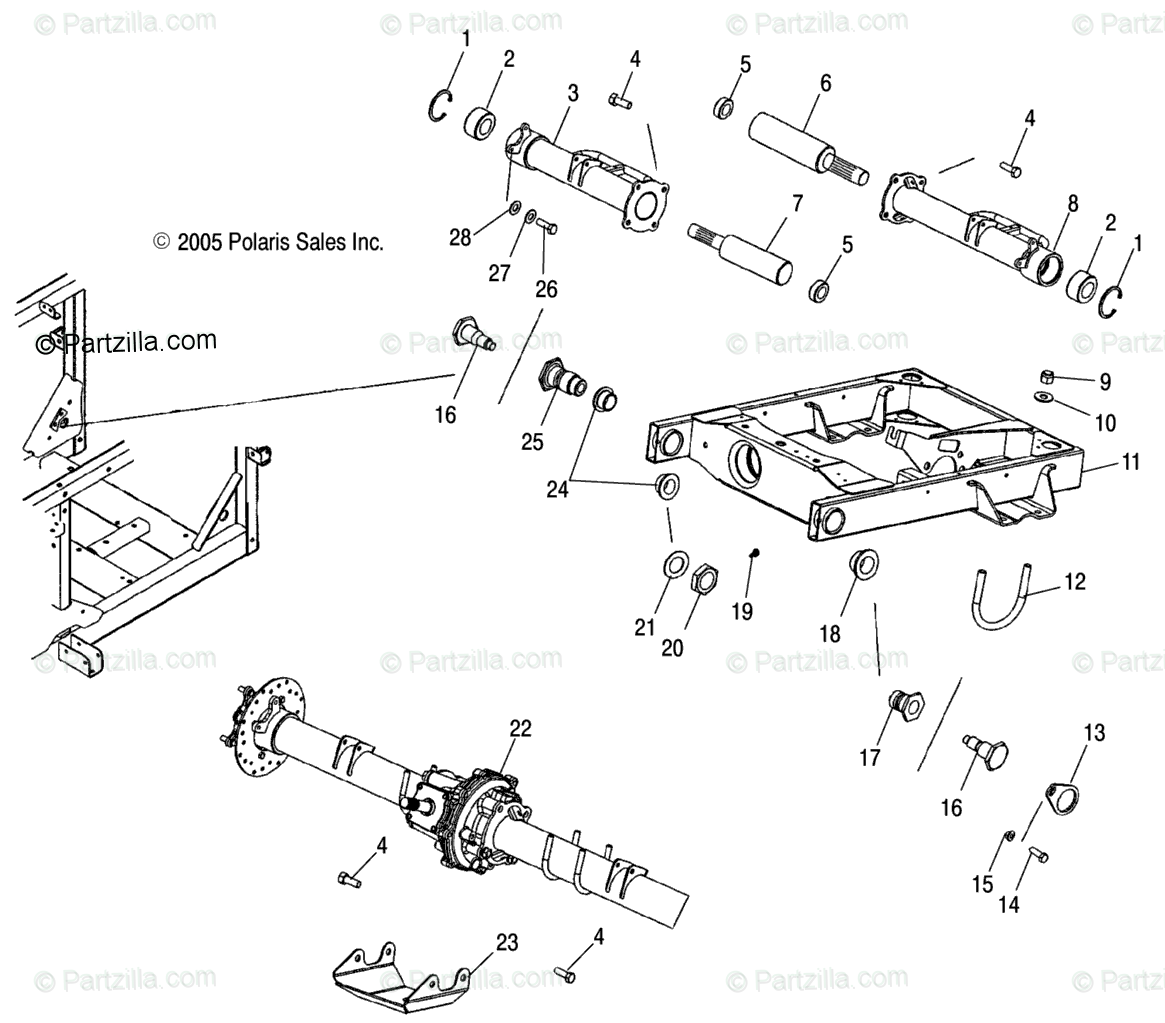 Polaris Side By Side Oem Parts Diagram For Swing Arm
