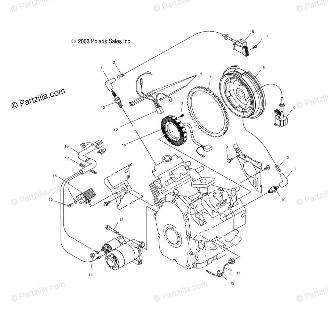 Polaris Side By Side Oem Parts Diagram For Electric