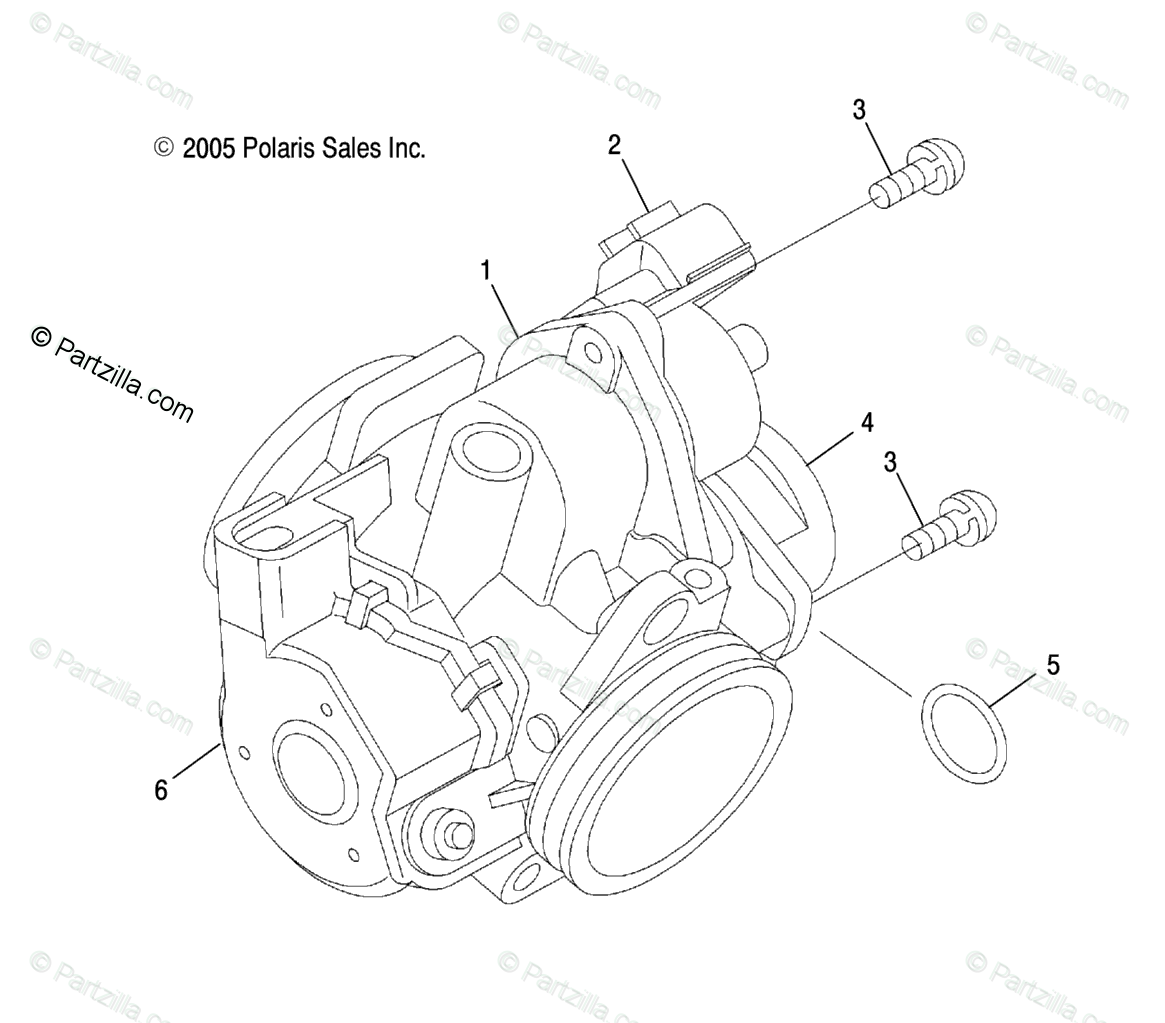 Polaris Atv Oem Parts Diagram For Throttle Body Ax