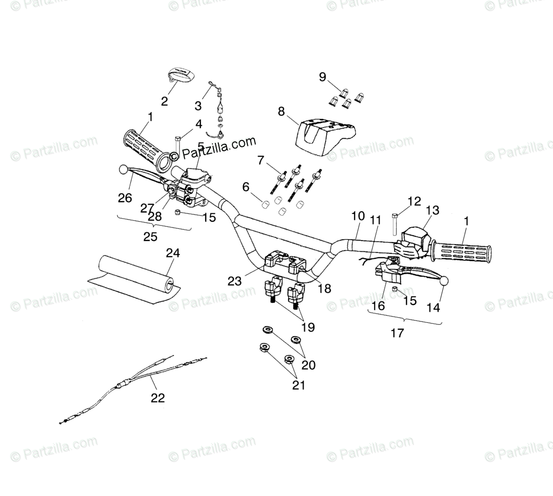 Polaris Atv Oem Parts Diagram For Handlebar