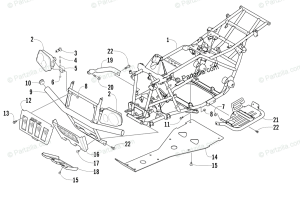 Arctic Cat ATV 2003 OEM Parts Diagram for Frame And