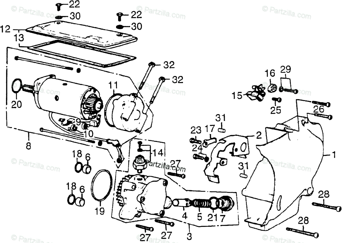 Honda Motorcycle Oem Parts Diagram For Left Crankcase