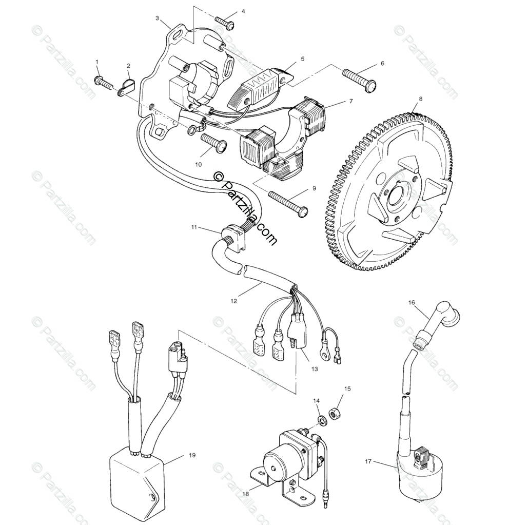 Polaris Atv Oem Parts Diagram For Magneto