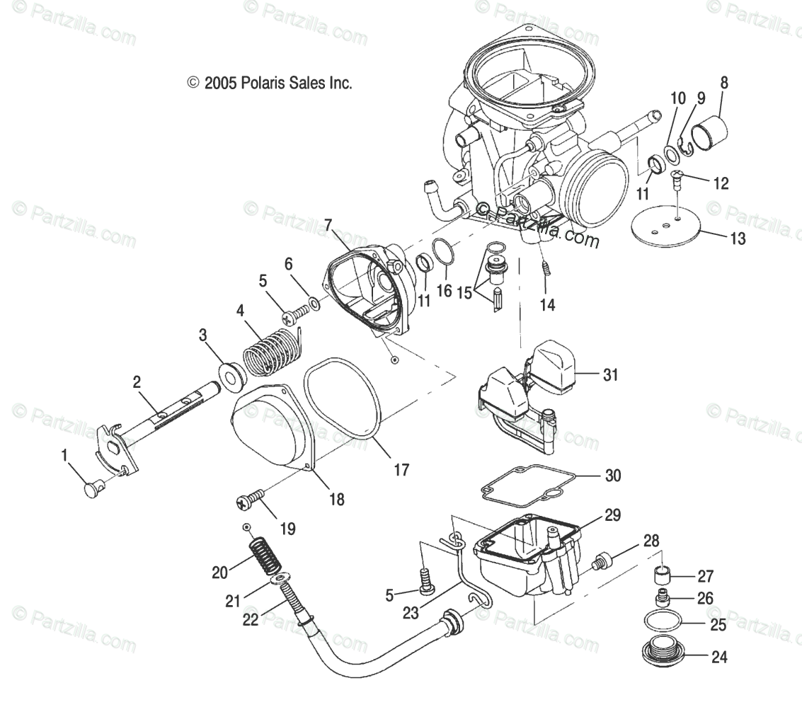 Polaris Atv Oem Parts Diagram For Engine Lower