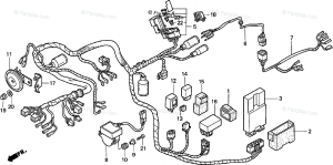 Honda Motorcycle 2000 OEM Parts Diagram for Wire Harness