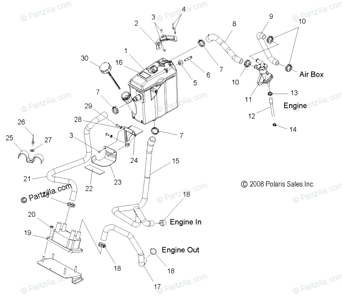 Polaris Snowmobile Oem Parts Diagram For Engine Oil