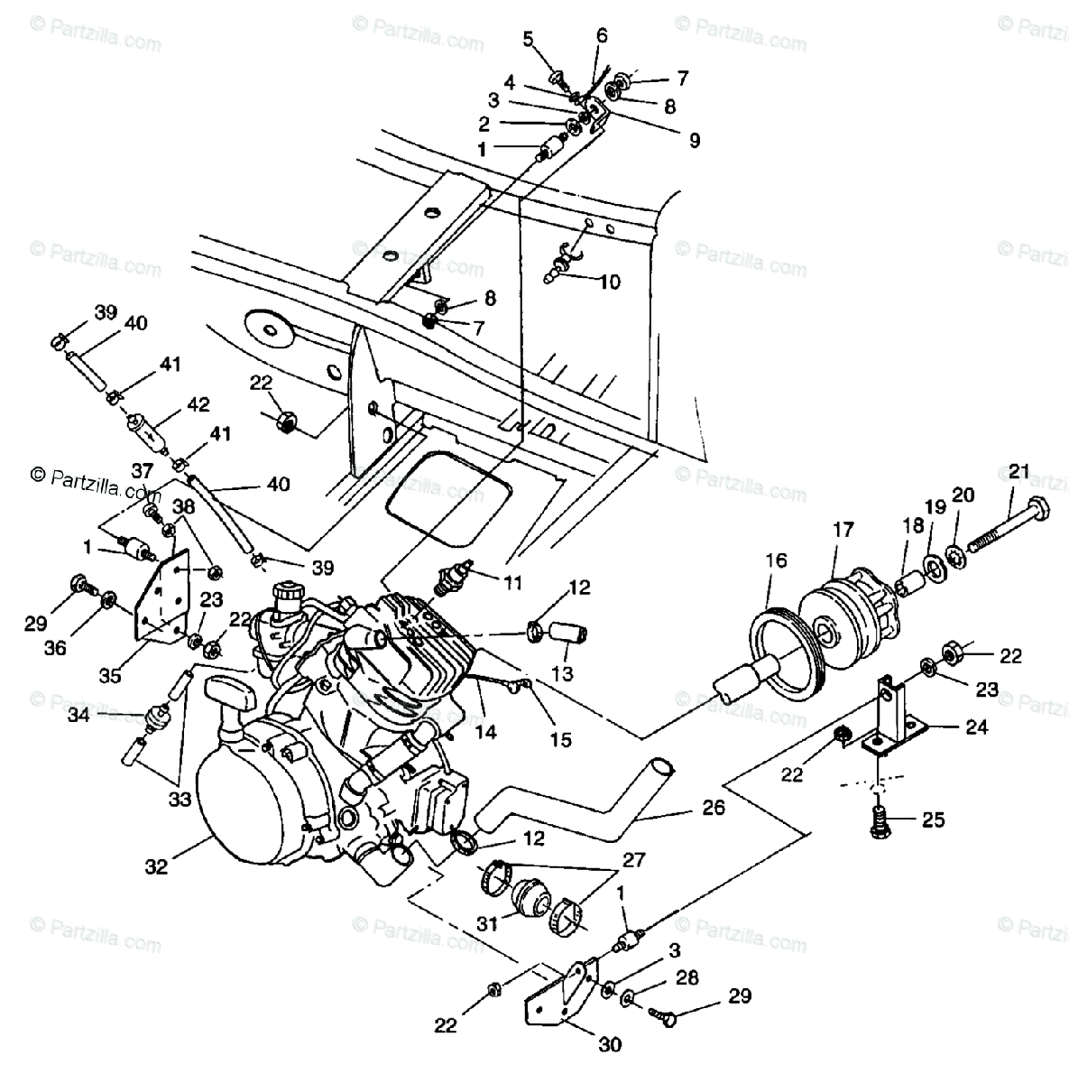 Polaris Scrambler 400 Engine Diagram