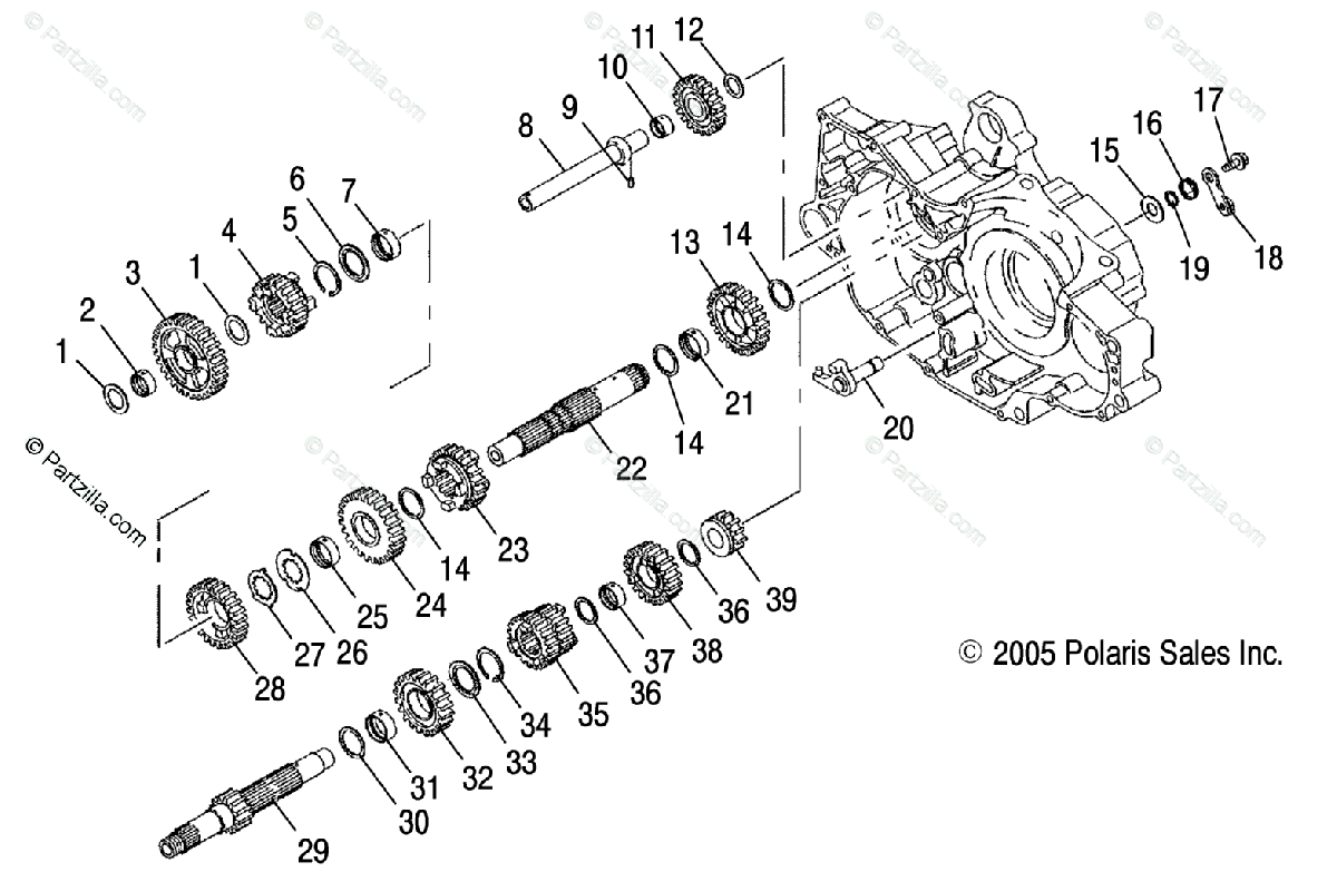 Polaris Atv Oem Parts Diagram For Transmission Ab Ac