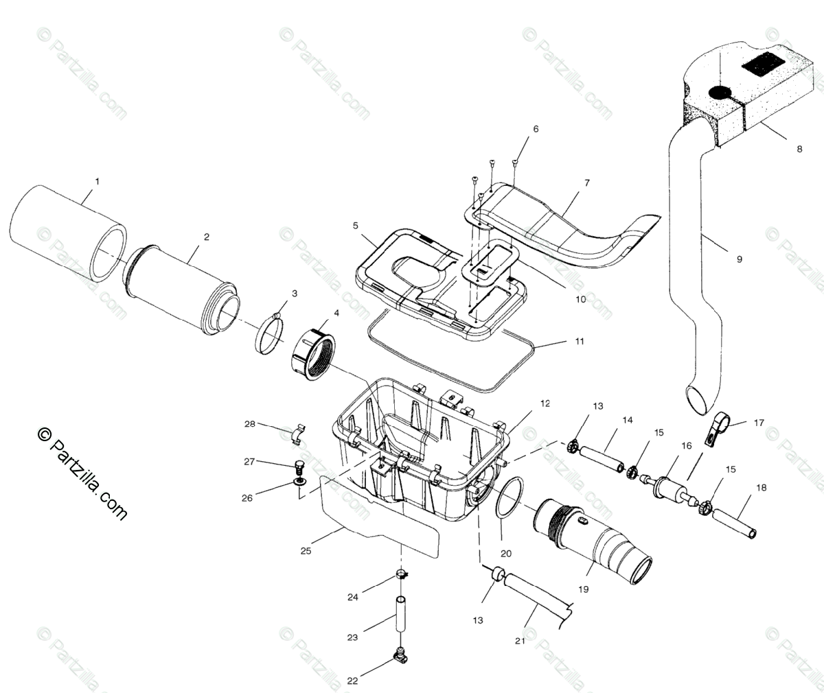 Polaris Atv Oem Parts Diagram For Air Box