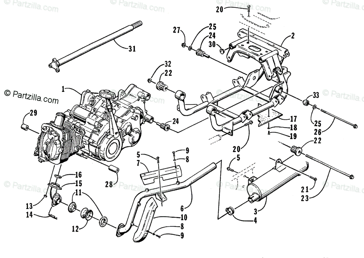 Arctic Cat Atv Oem Parts Diagram For Engine And