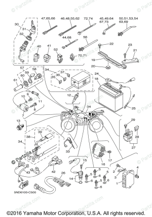 Yamaha ATV 2004 OEM Parts Diagram for Electrical  1