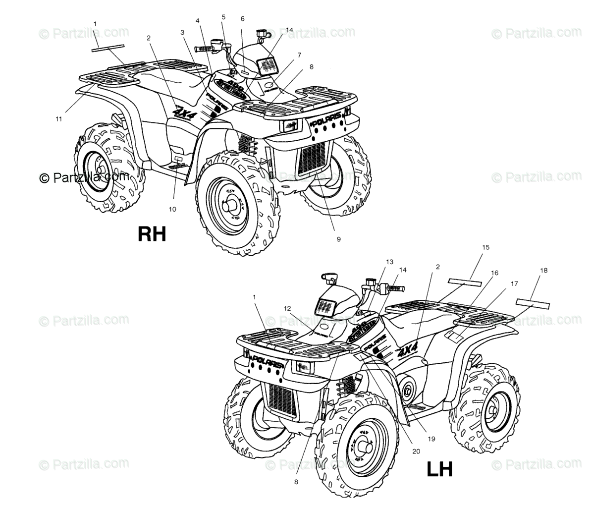Polaris Atv Oem Parts Diagram For Decals