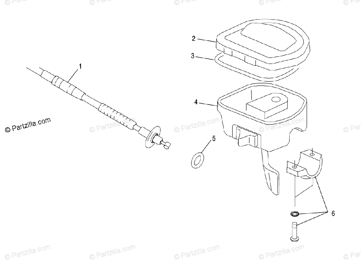 Polaris Atv Oem Parts Diagram For Controls Throttle