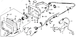 Honda ATV 1983 OEM Parts Diagram for Wire Harness