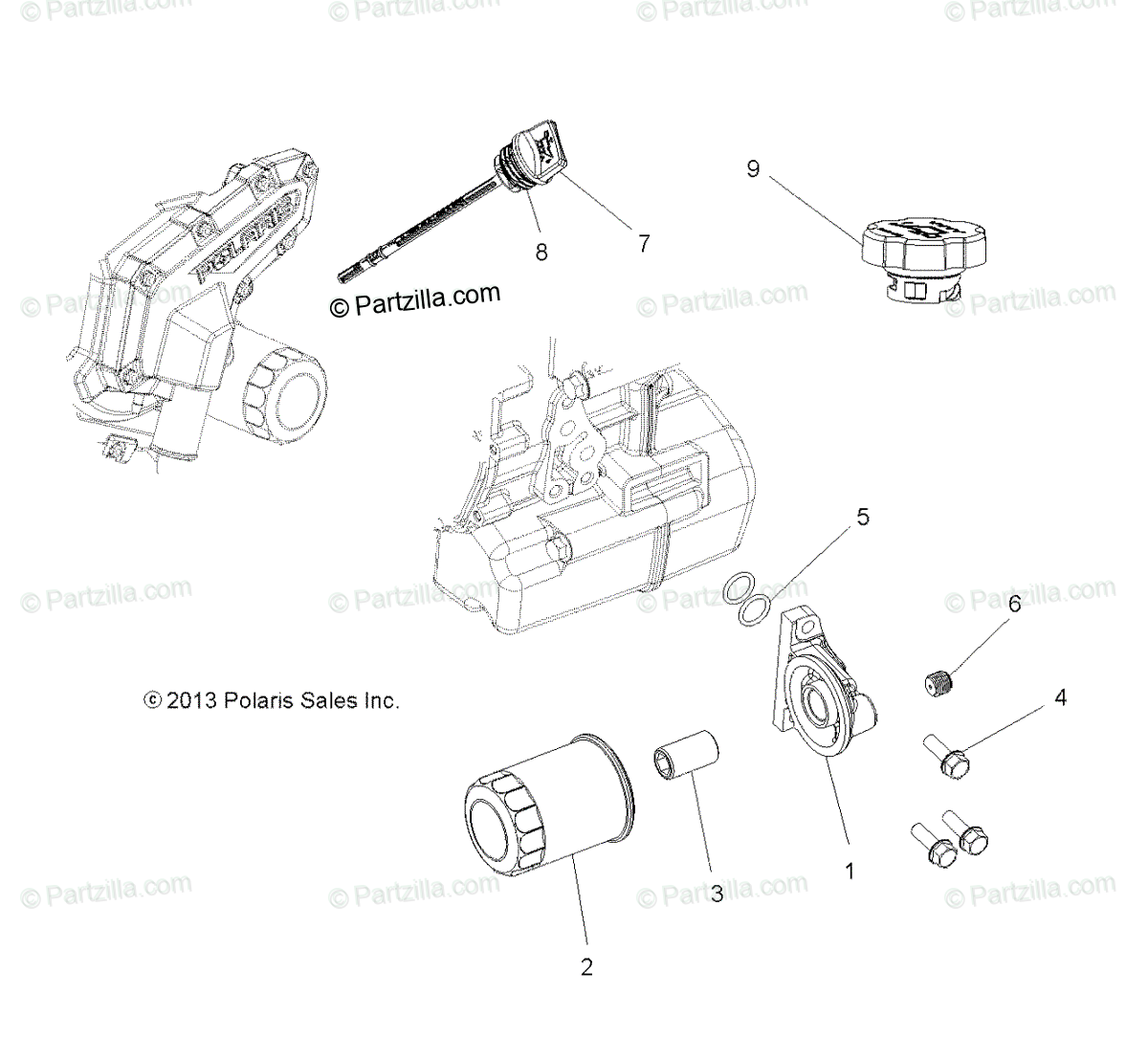 Polaris Side By Side Oem Parts Diagram For Engine