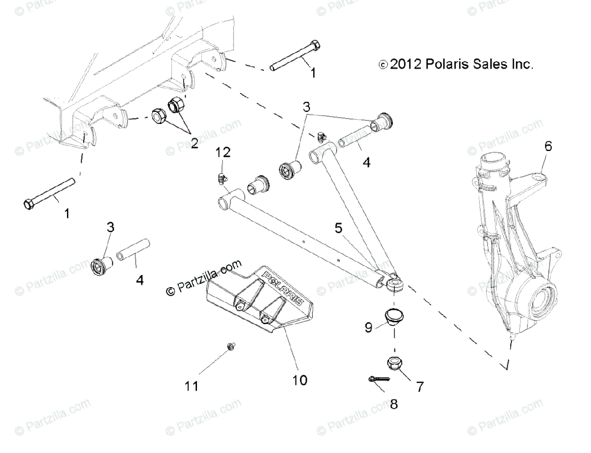 Polaris Side By Side Oem Parts Diagram For Suspension