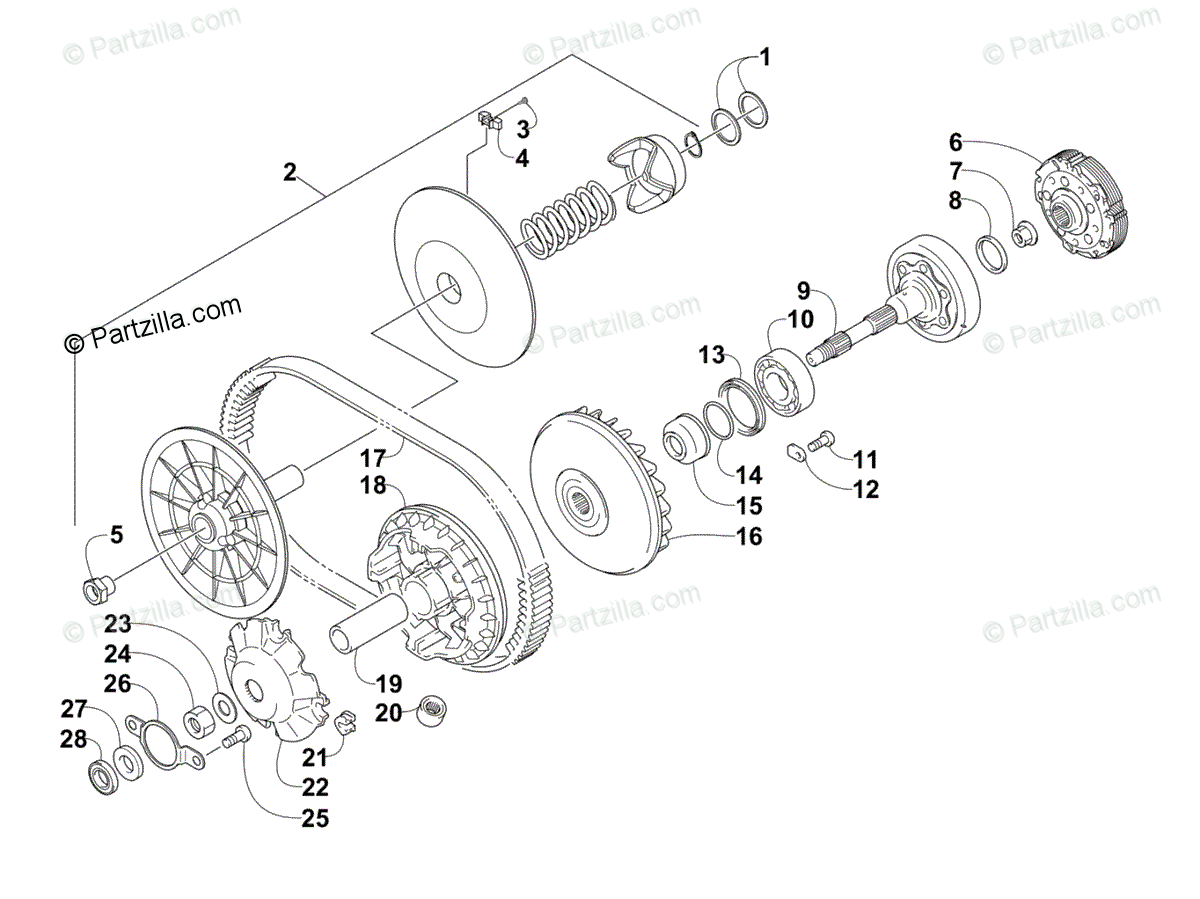 Arctic Cat Side By Side Oem Parts Diagram For