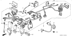 Honda ATV 2002 OEM Parts Diagram for Wire Harness