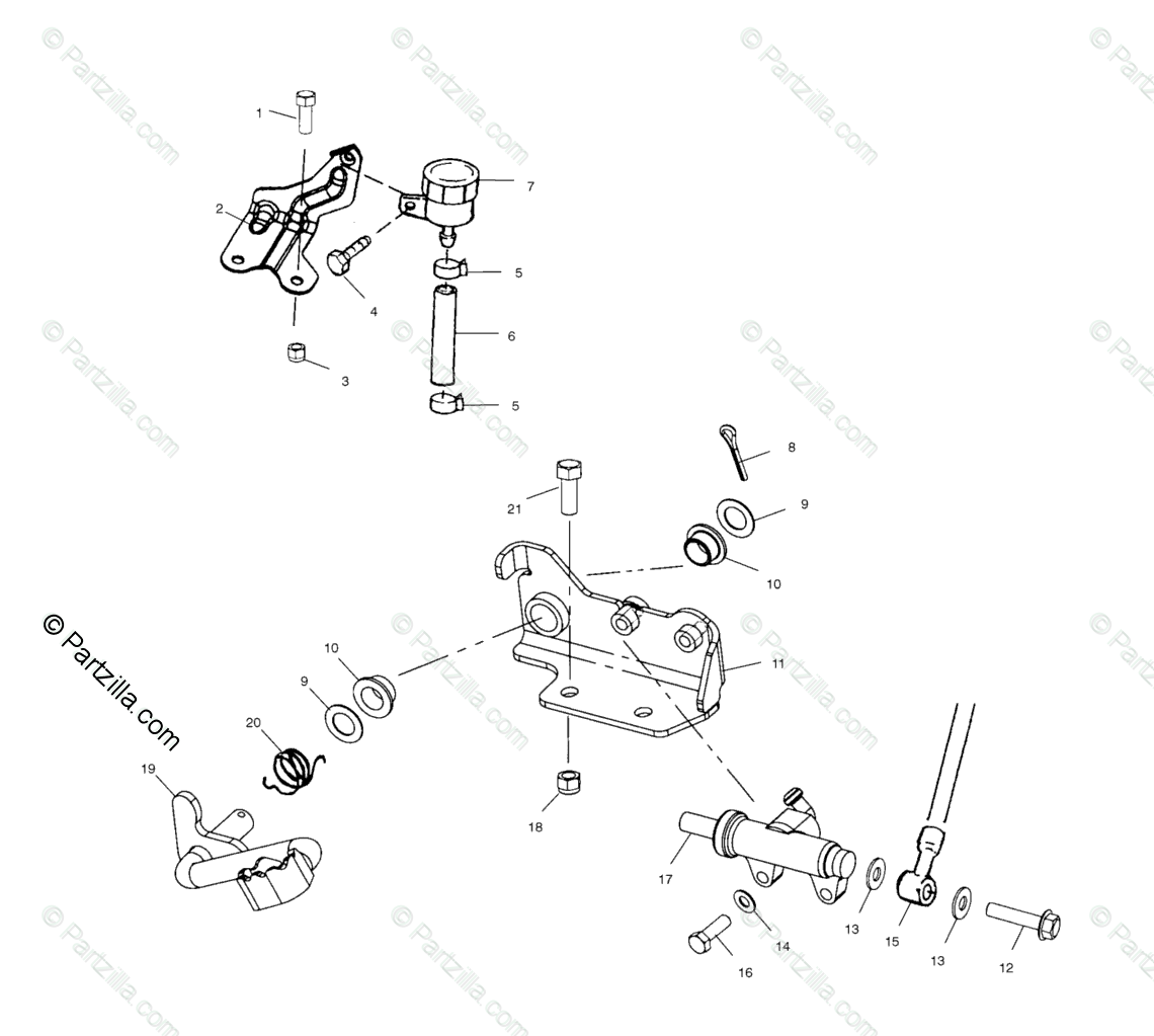 Polaris Atv Oem Parts Diagram For Rear Brake Master
